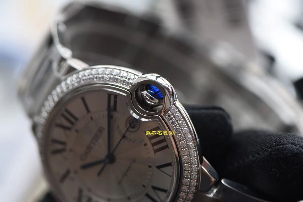 【V6厂官网CARTIER复刻表】卡地亚蓝气球系列WE9009Z3钻圈腕表
