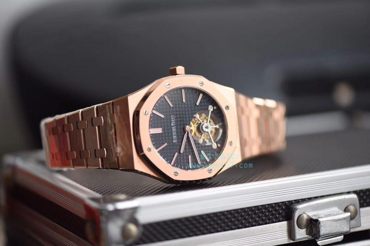 【视频评测JF厂官网复刻手表】爱彼皇家橡树系列26510OR.OO.1220OR.01陀飞轮腕表