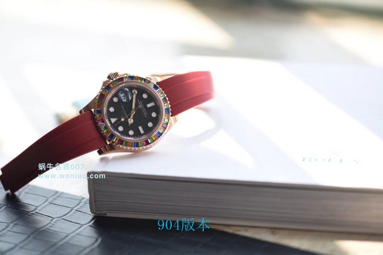 【视频评测NOOB厂官网劳力士水鬼复刻表】糖豆劳力士游艇名仕型系列116695SATS腕表