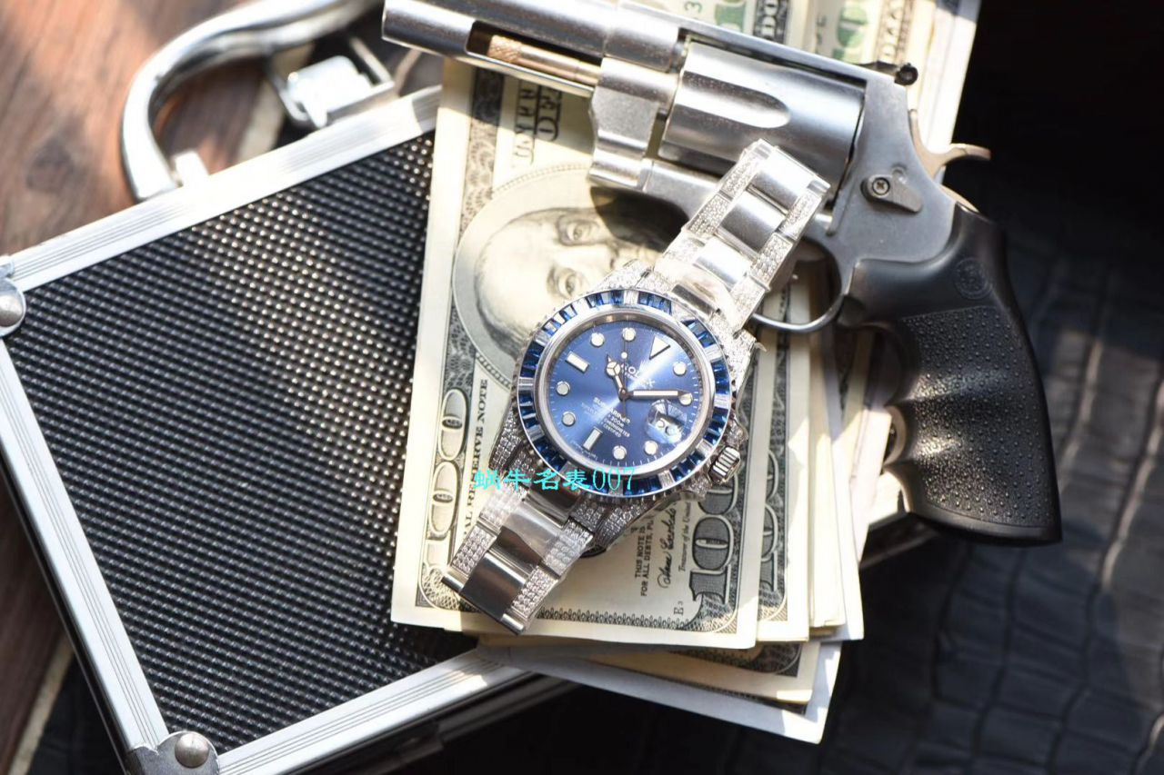 【LF厂顶级劳力士复刻手表】LF帝皇定制版镶钻蓝水鬼❗顶级蓝钻鬼116619LB-97209 / R368