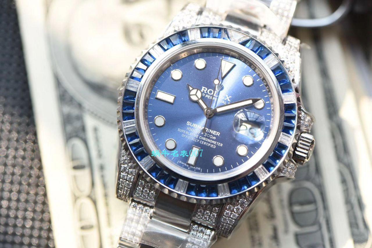 【LF厂顶级劳力士复刻手表】LF帝皇定制版镶钻蓝水鬼❗顶级蓝钻鬼116619LB-97209