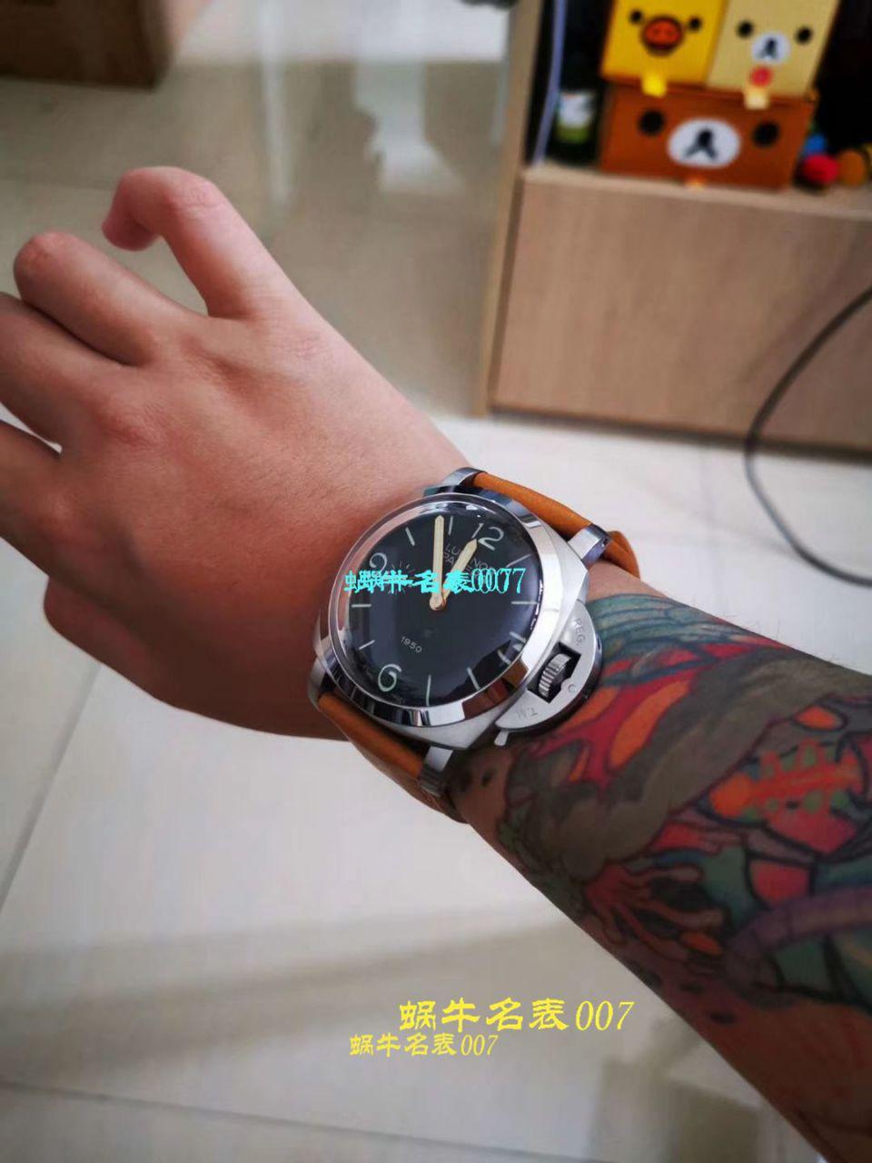 【V9一比一顶级复刻手表】沛纳海LUMINOR系列 PAM00972雕花腕表
