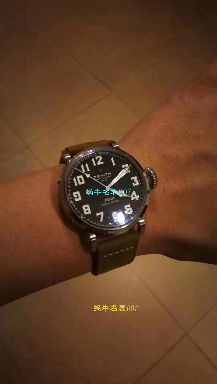 【独家视频测评KW一比一超A高仿手表】真力时大飞行员系列03.2430.3000/21.C738腕表