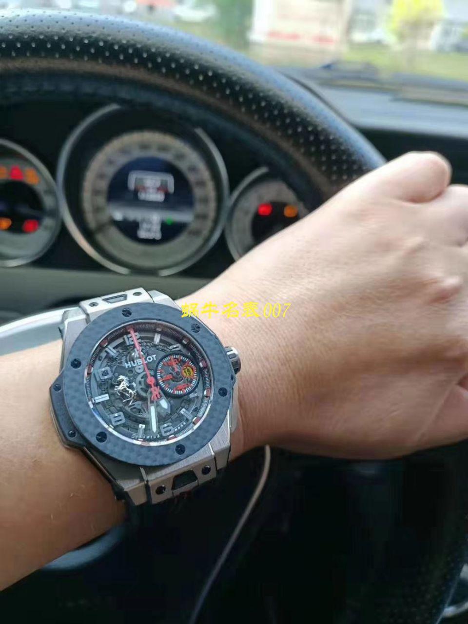 【视频评测V6出品】Hublot Big Bang Ferrari Titanium F3系列 宇舶法拉利401.NQ.0123.VR腕表