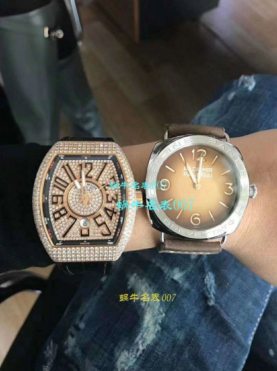 【FM一比一超A高仿手表】法兰克穆勒VANGUARD系列Vanguard Lady 白金钻石腕錶腕表