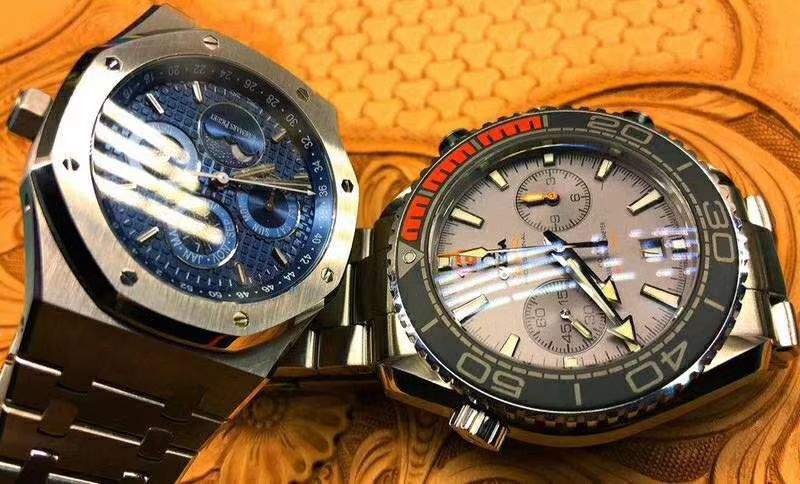 【JF厂一比一超A高仿手表】爱彼皇家橡树万年历系列26574ST.OO.1220ST.02腕表