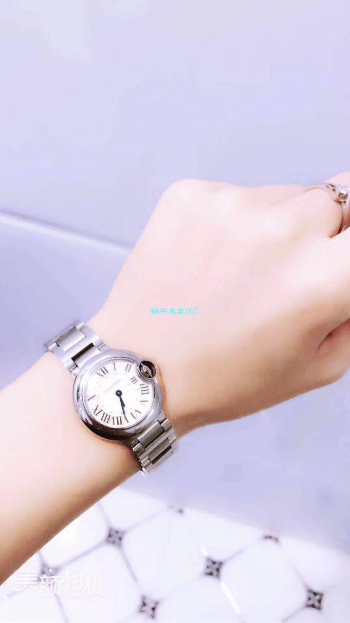 【HBBV6一比一顶级复刻手表】卡地亚小号蓝气球女装28毫米石英机芯WE69010Z4 / K116