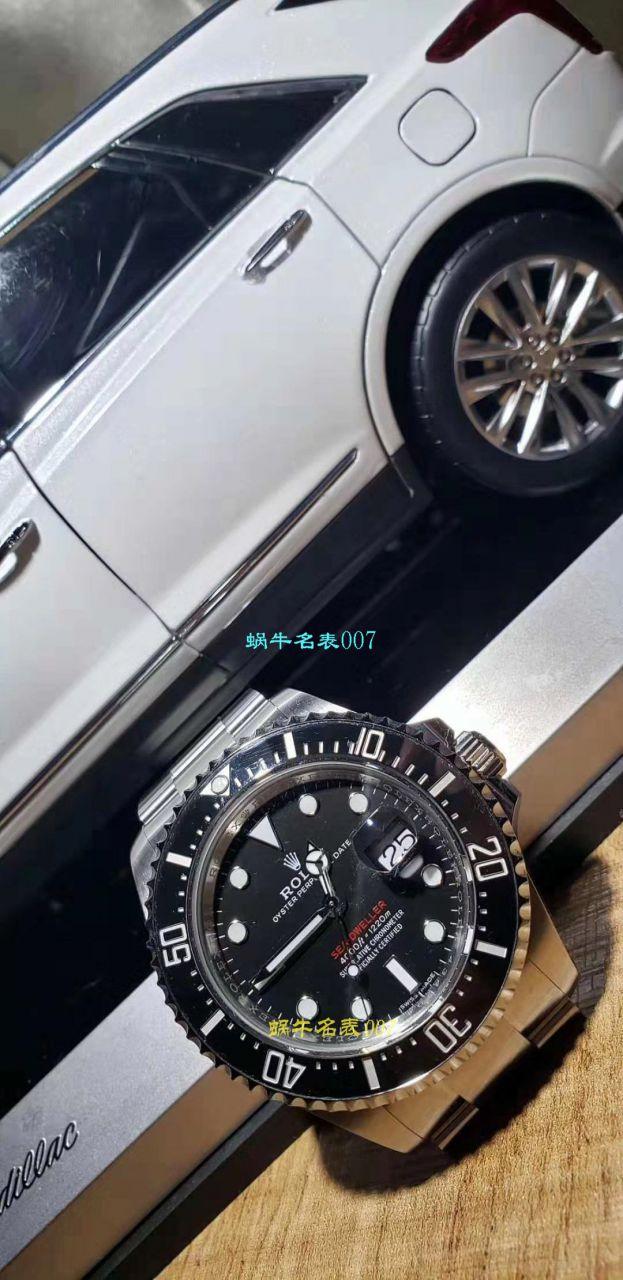【独家视频评测AR一比一超A高仿手表】劳力士ROLEX海使型系列Rolex Sea-Dweller 50周年126600 单红43毫米腕表