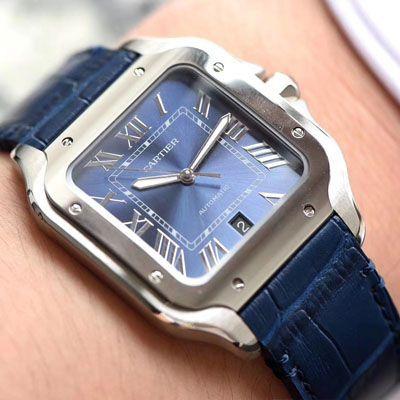 【V6厂一比一CARTIER复刻手表】卡地亚山度士系列WSSA0013(大号)腕表价格报价