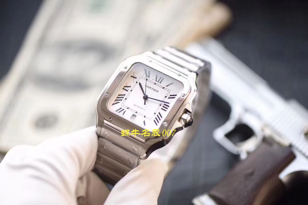 【视频评测V6厂顶级复刻表】卡地亚山度士系列WSSA0009(大号),WSSA0010(中号)腕表