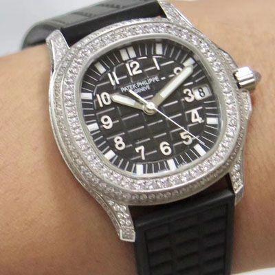 【PPF厂PATEK PHILIPPE复刻表】百达翡丽AQUANAUT系列5069G-001 白金女士腕表
