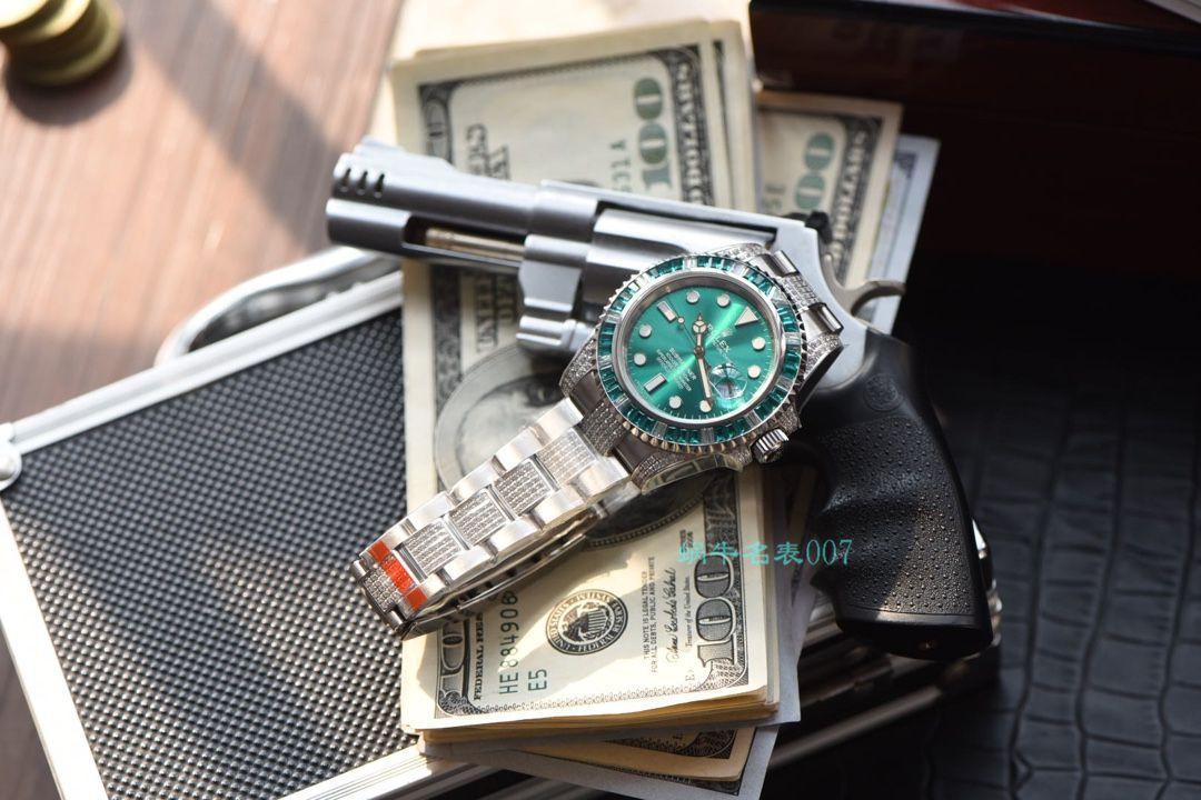 【LF厂顶级复刻劳力士手表】LF帝皇定制版镶钻绿水鬼❗顶级绿钻水鬼