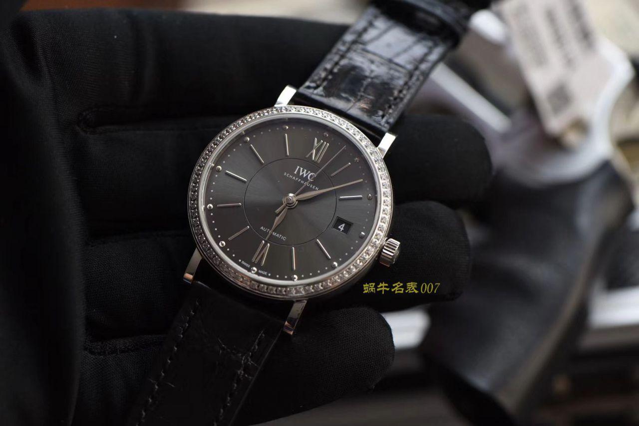 【视频评测M+超A高仿万国女表】IWC万国表柏涛菲诺系列IW458104腕表