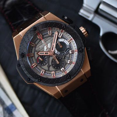 【HBBV6厂顶级复刻手表】宇舶法拉利F1 玫瑰金703.OM.6912.HR.FMC12 Hublot Big Bang F1 King Power Great Britain Limited Edition
