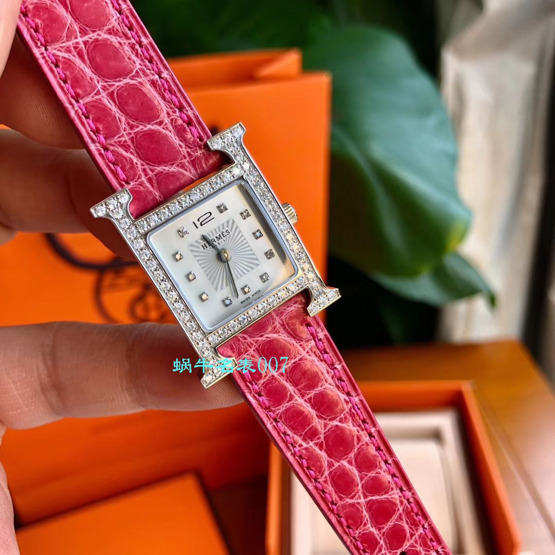 【高端定制真钻女表】Hermès爱马仕HEURE H系列W036819WW00,W036766WW00腕表