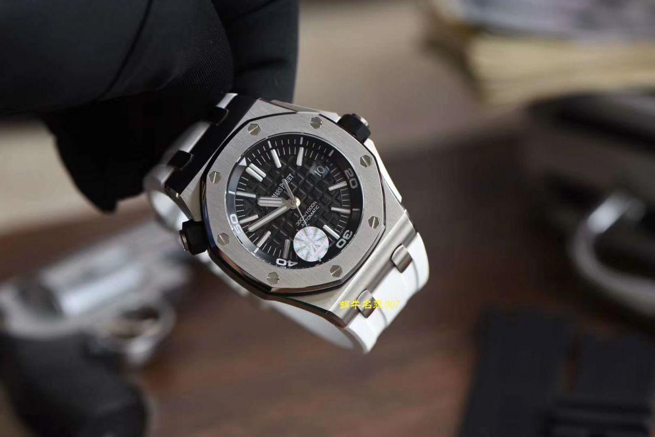 【JF一比一超A高仿】视频评测爱彼皇家橡树离岸型系列15703ST.OO.A002CA.01腕表,全新V9S超强版正式闪亮登场