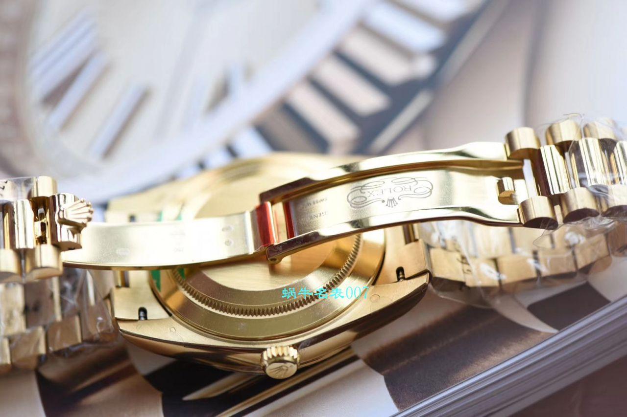 【EW厂Rolex复刻表】劳力士星期日历型系列218238-83218 香槟色表盘腕表