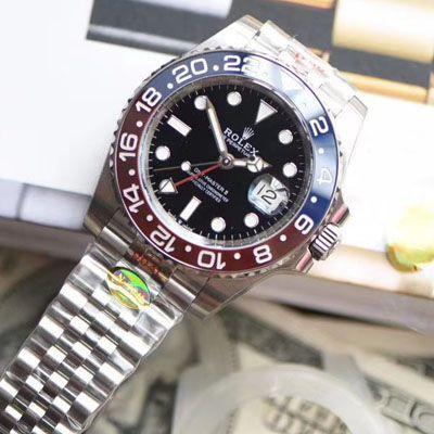 【视频评测N厂顶级红蓝圈仿表】劳力士格林尼治型II系列126710BLRO-0001腕表
