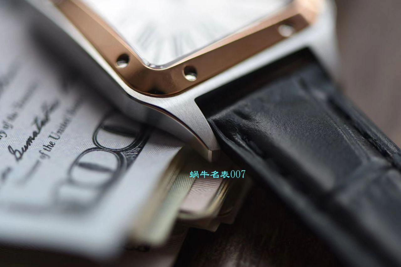【XF厂卡地亚复刻表】卡地亚山度士系列W2SA0012(小号)腕表间玫山度士杜蒙