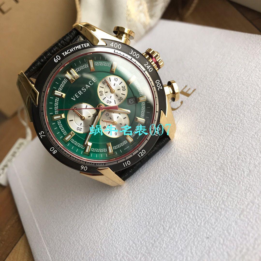 【渠道原单】范思哲Versace男子手表vdb080015六针计时带日历