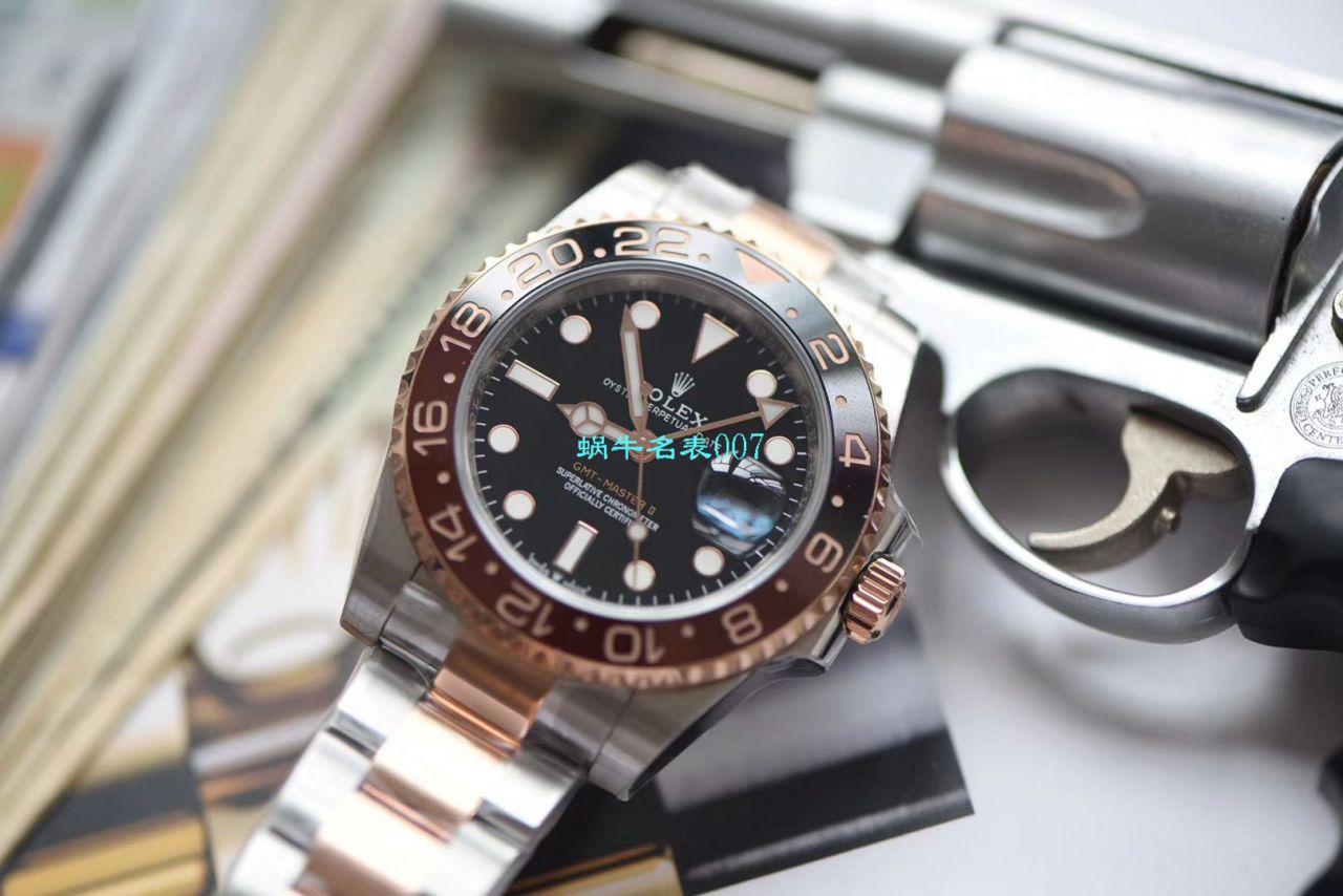 【LF厂Rolex间金沙士圈复刻表】劳力士格林尼治型II系列m126711chnr-0002腕表