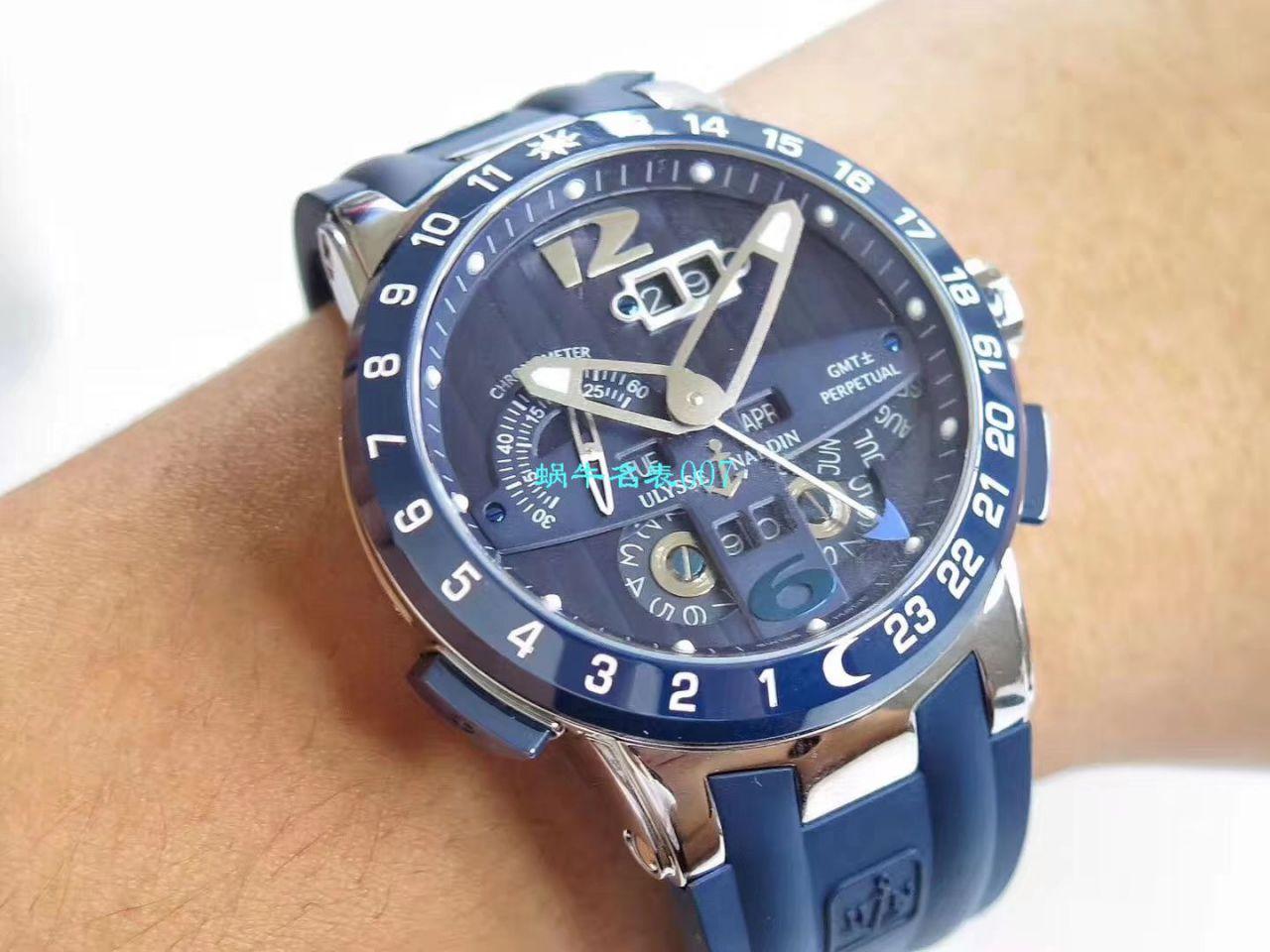 【视频评测TWA厂Ulysse Nardin复刻手表】雅典表复杂功能万年历腕表系列 329-00-3腕表