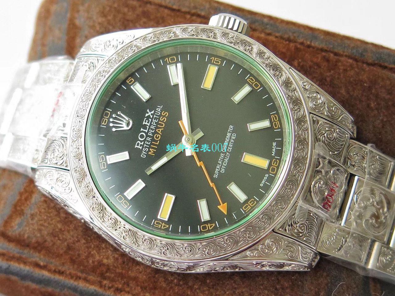 DJ创新之作,以劳力士Milgauss为雏形配合业内最顶尖的篆刻手艺,ROLEX Milgauss雕花纹身腕表