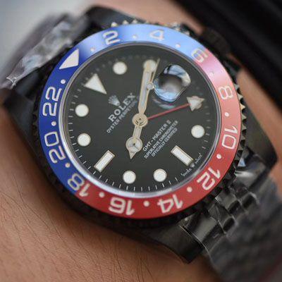 【LF厂超A精手表】Batman定制版劳力士格林尼治可乐圈Rolex GMT-Master II 126710BLRO-0001