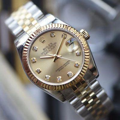 【台湾厂复刻ROLEX女表】劳力士女装日志型31毫米系列178273香槟盘腕表