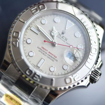 【视频评测N厂Rolex复刻手表】904钢劳力士游艇名仕YM型系列116622-78760 银盘腕表价格报价