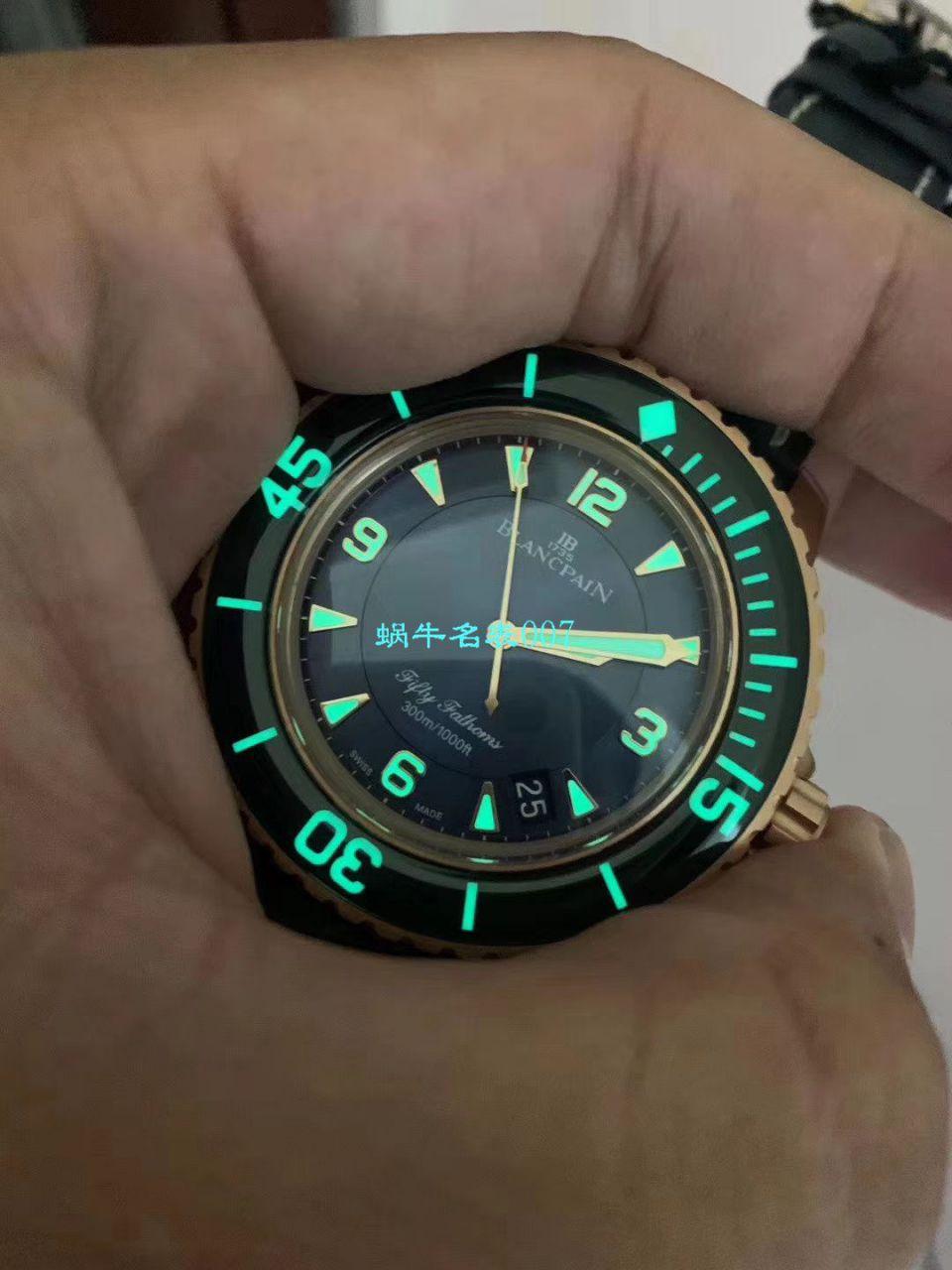 【ZF厂Blancpain超A复刻手表】宝珀五十噚系列5015-3603C-63B腕表