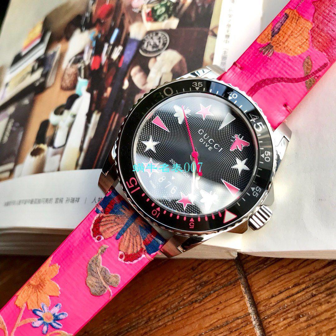 硬货来袭渠道原单,独家Gucci骚粉色水鬼新款腕表!40MM 男女均可戴