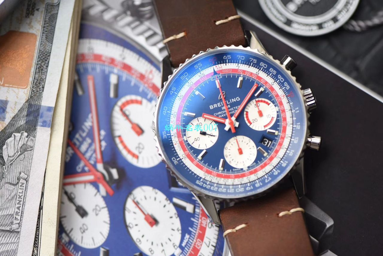 【V9厂1:1精仿手表】百年灵航空计时1 B01计时43RANAM泛美航空特别版AB01212B1C1X1腕表