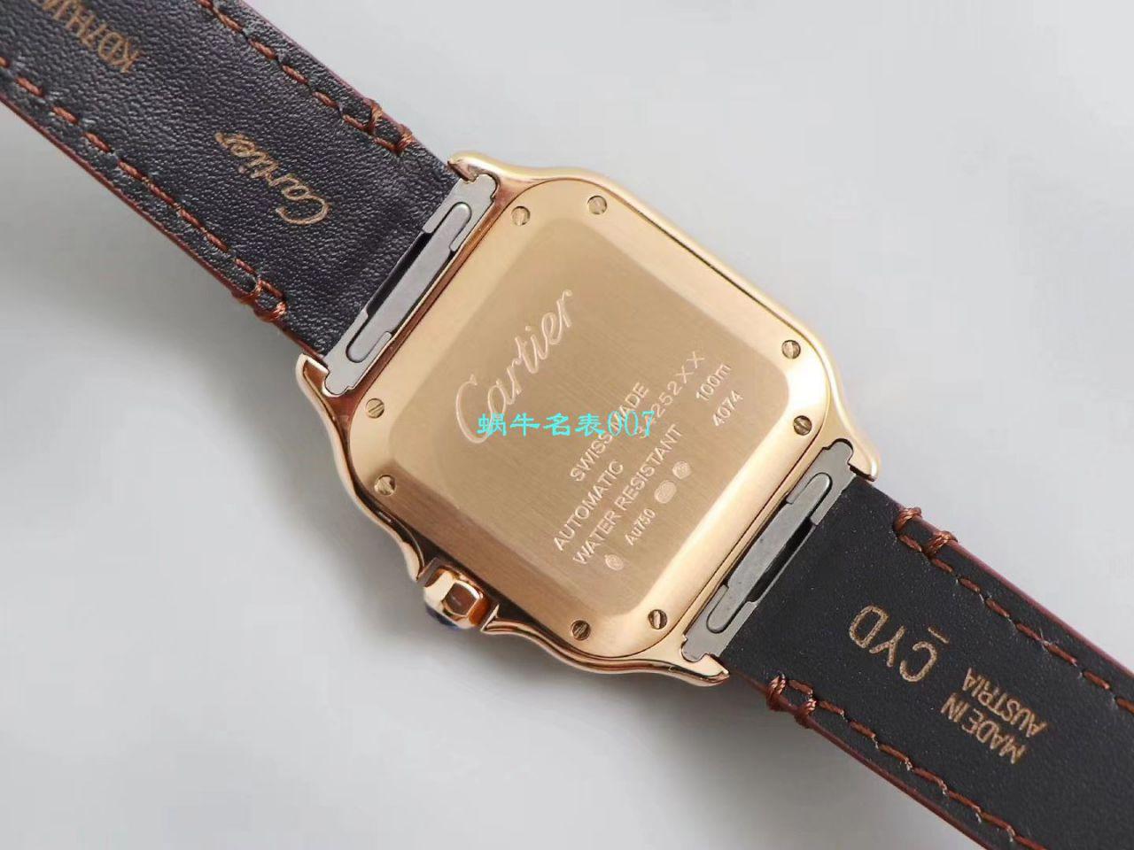 【V6厂超A高仿手表】卡地亚山度士系列WGSA0012(中号)腕表