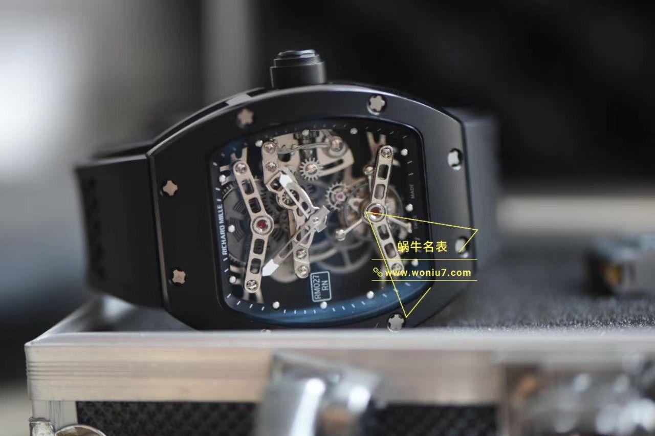 视频分析EUR厂陀飞轮RICHARD MILLE理查德米勒RM 027 TOURBILLON RAFAEL NADAL腕表