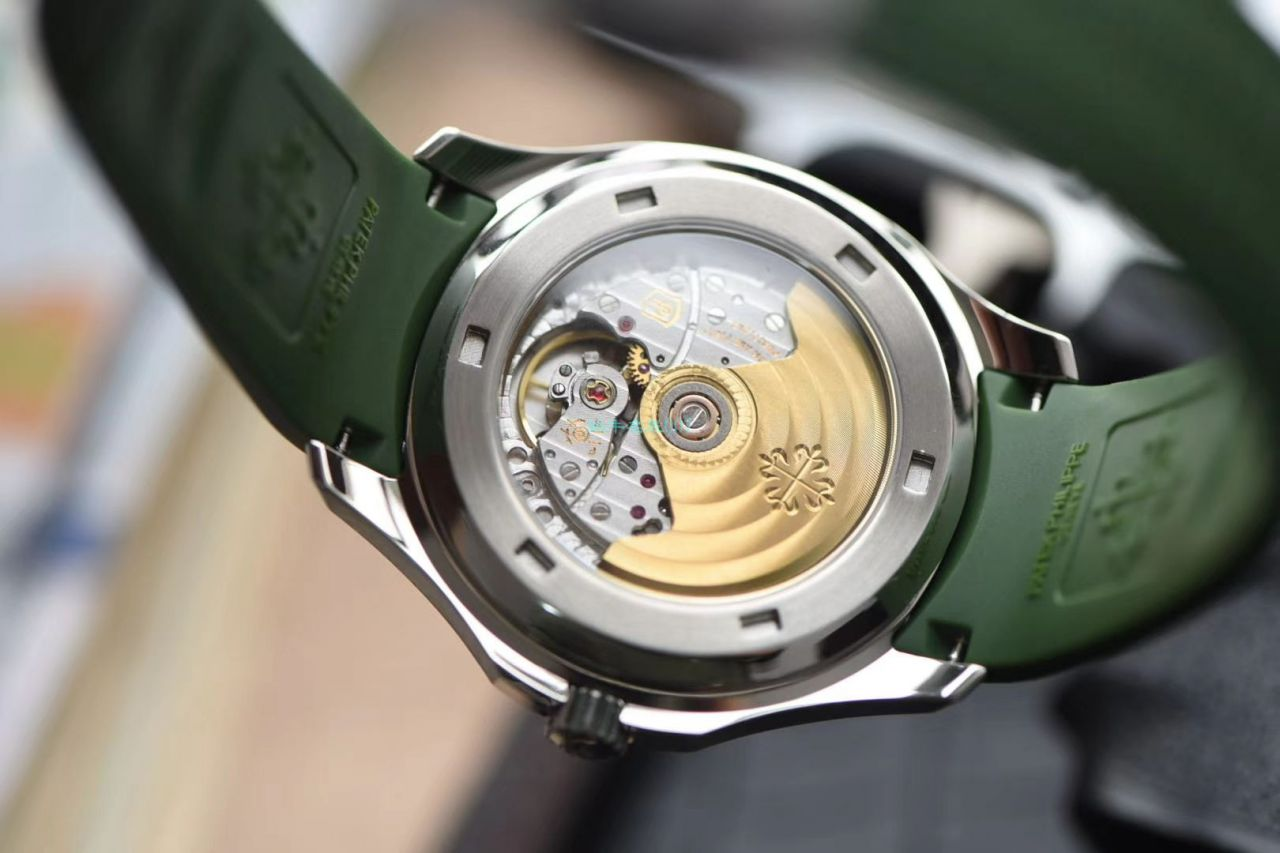 视频评测台湾厂超A高仿百达翡丽AQUANAUT绿色手雷5168G-010腕表