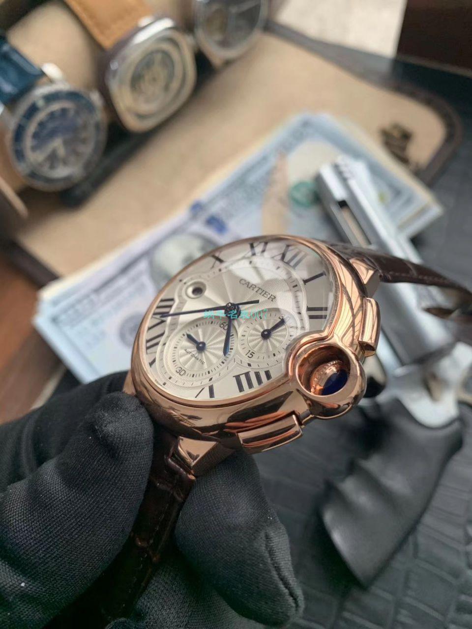 OF厂顶级复刻最新升级版卡地亚蓝气球W6920074,W6920007计时腕表