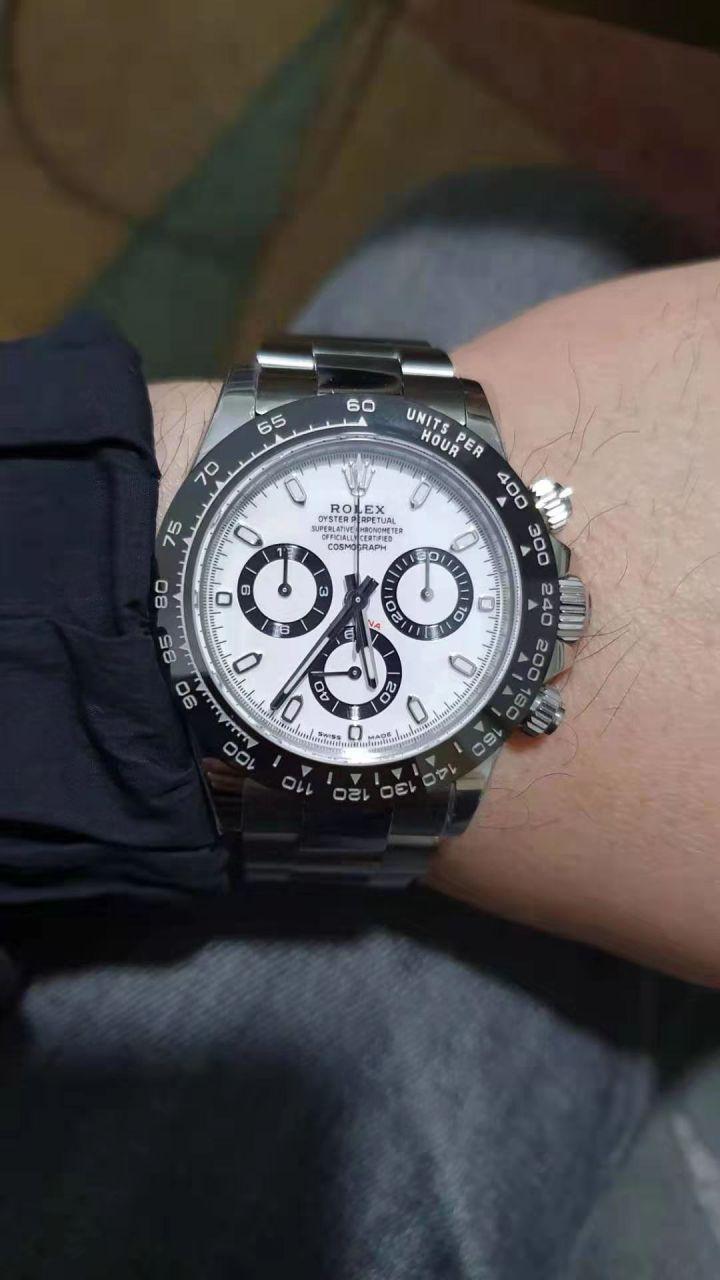 【N厂V3升级版复刻表】Rolex熊猫迪劳力士宇宙计型迪通拿系列116500LN-78590白盘腕表 / R508
