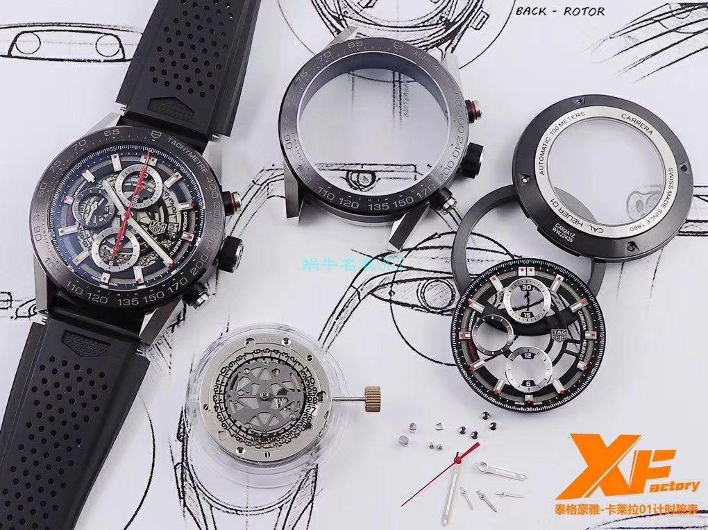 XF厂超A高仿手表泰格豪雅卡莱拉系列CAR2A1W.BA0703,CAR2A1T.FT6052,CAR2A1Z.FT6044腕表