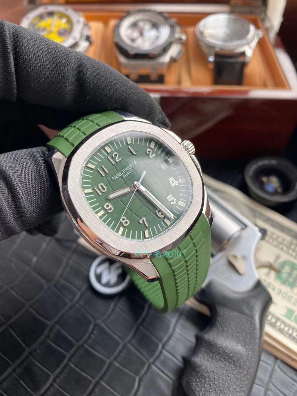 ZF厂超A高仿手表百达翡丽绿面手雷5168G-010腕表