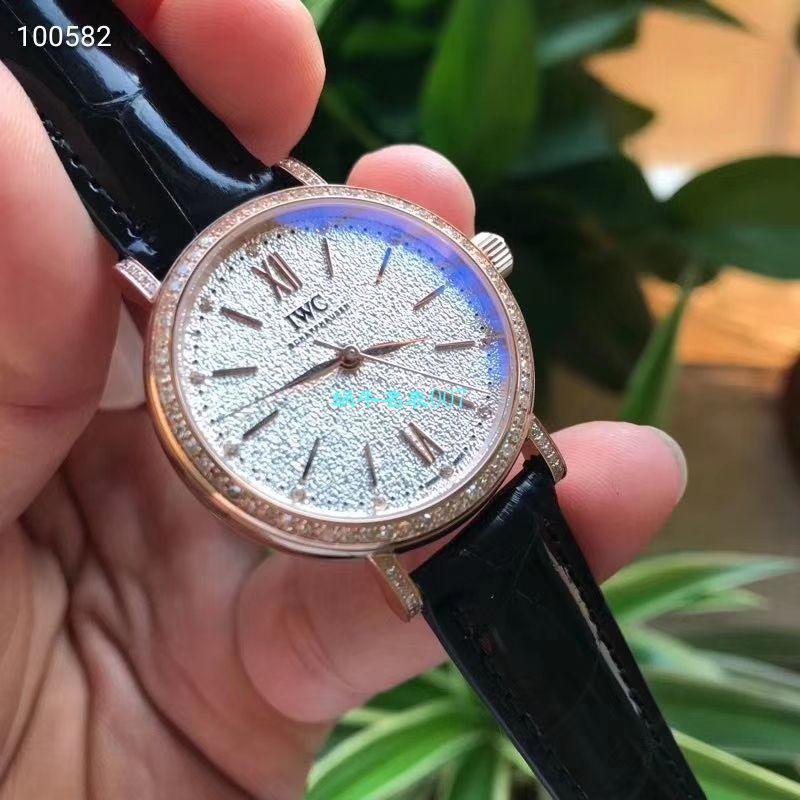 渠道原单万国柏涛菲诺真钻瑞士机芯女表IW357406腕表