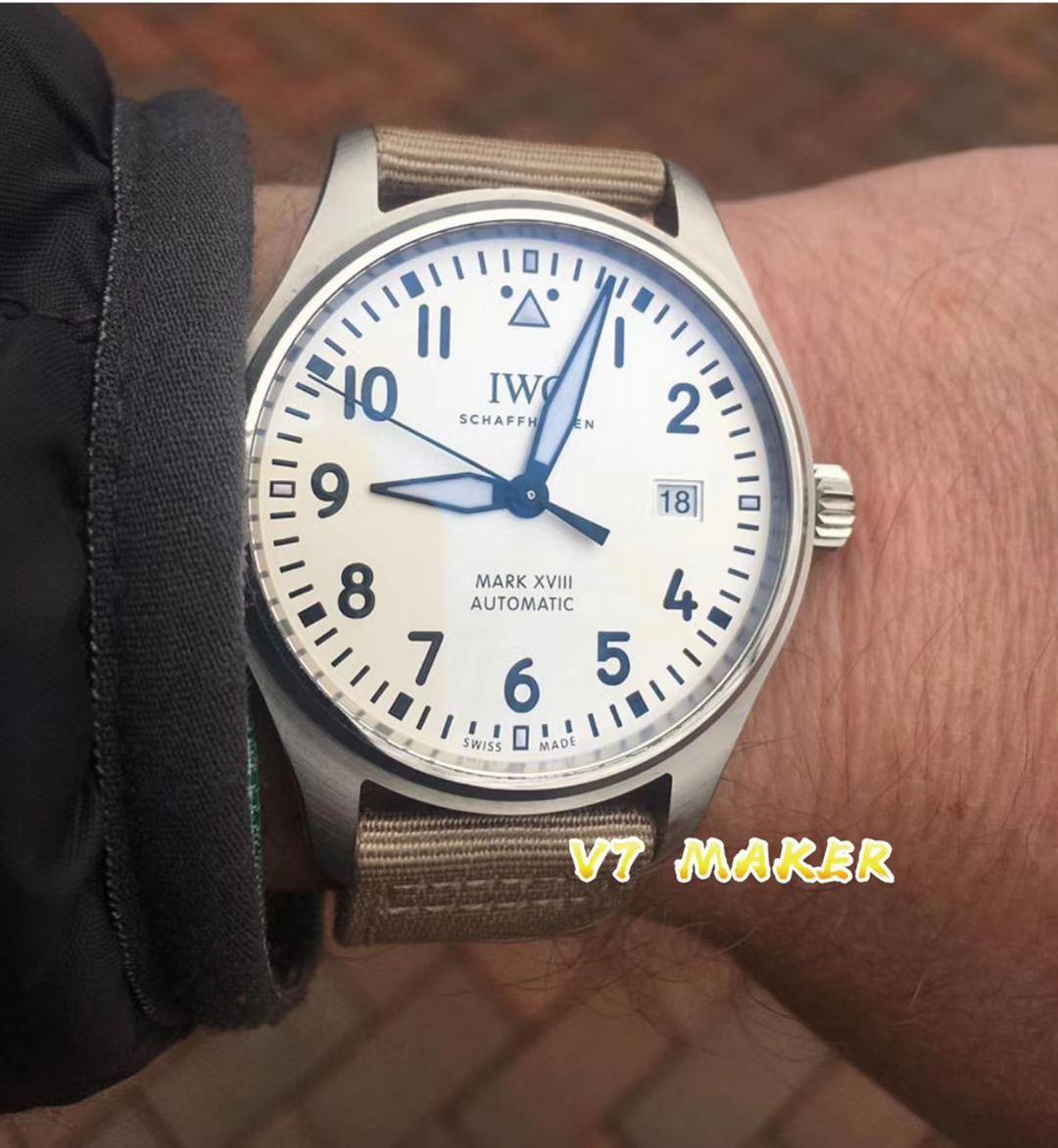 V7厂官网超A高仿手表万国飞行员马克十八新面IW327017