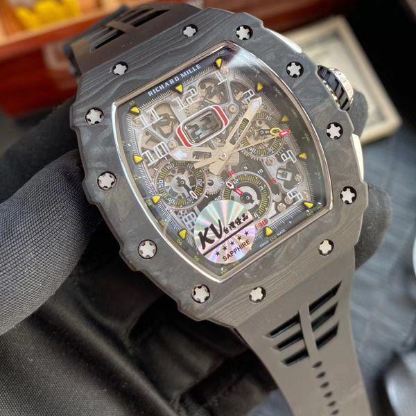 KV厂V2全新升级版顶级复刻理查德米勒手表RM 011男士系列价格报价