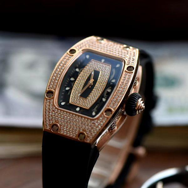 超A高仿手表Richard Mille 理查德米勒RM007女神镶钻腕表价格报价
