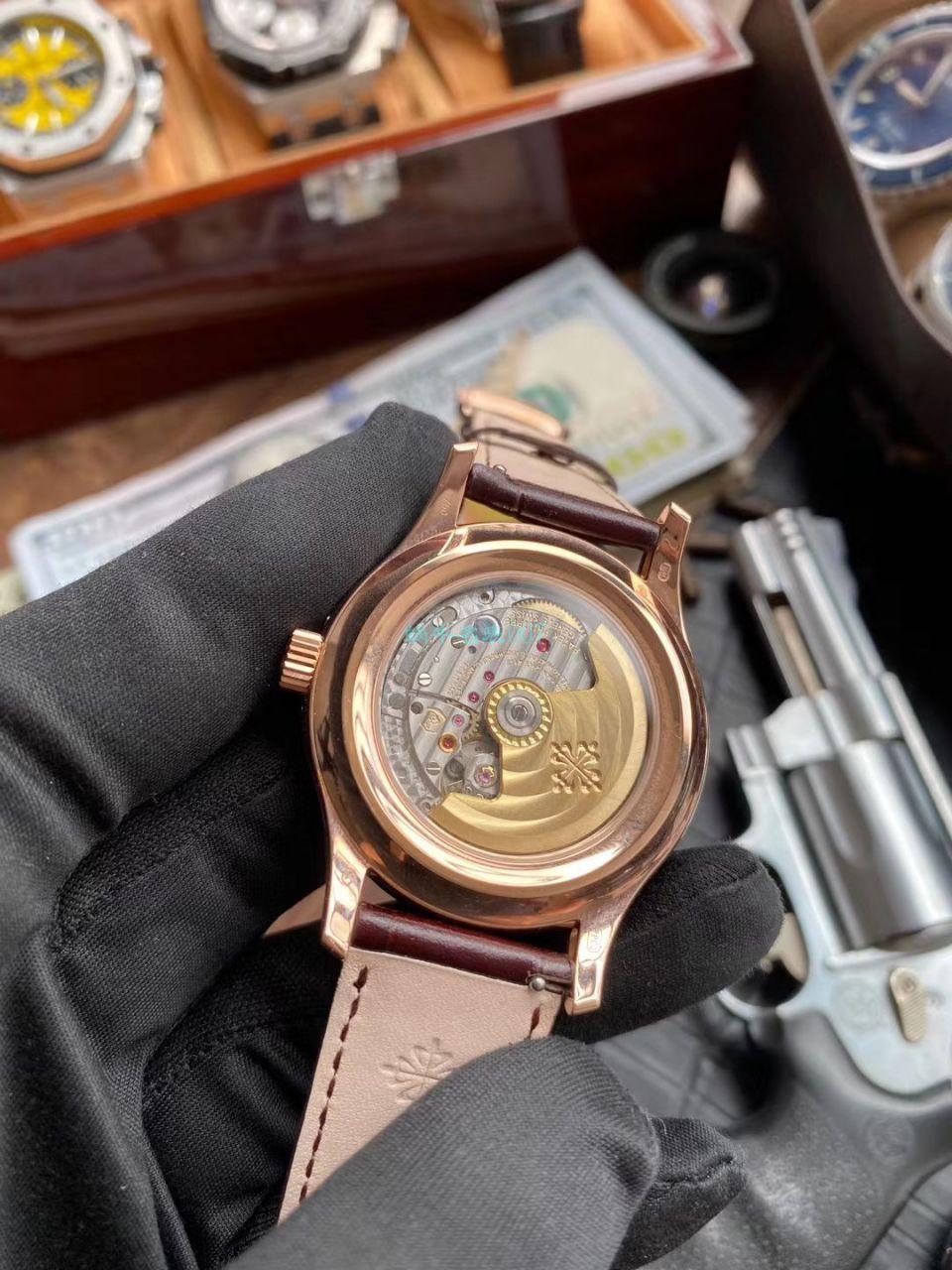 GR厂V2版本百达翡丽高仿手表复杂功能时计系列5205R-001,5205R-010腕表