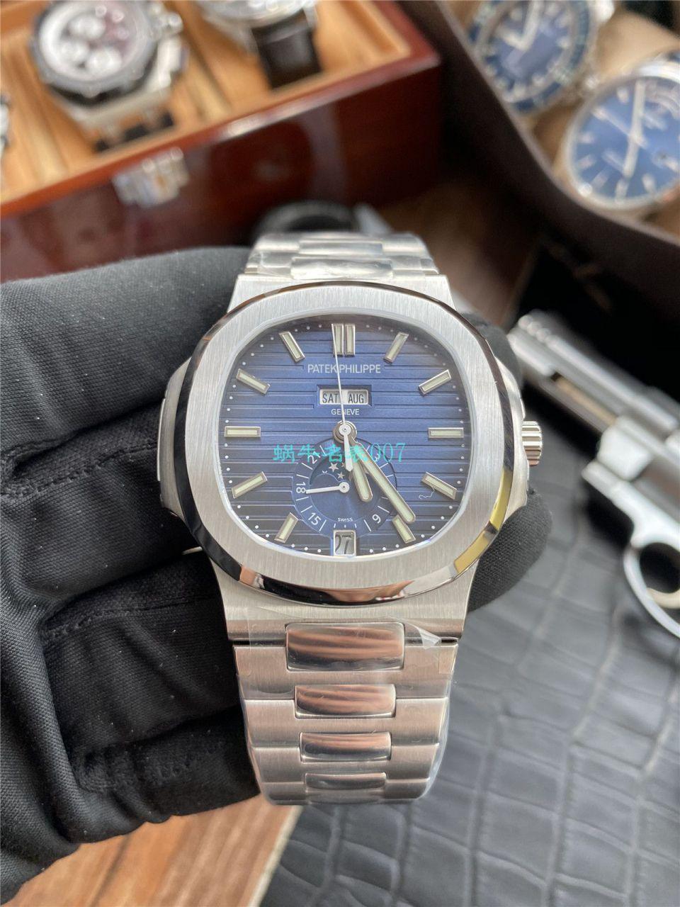评测V9厂真月相高仿手表百达翡丽鹦鹉螺5726/1A-010腕表 / BD310
