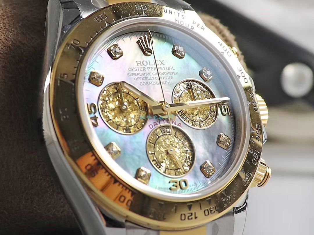 BL厂珍珠母贝面劳力士精仿手表迪通拿系列m116503-0009,m116509-0064腕表 / R617