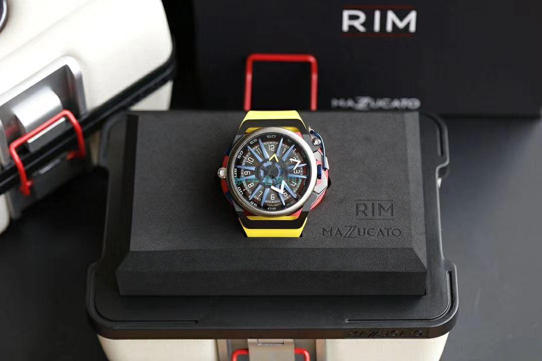 原单MAZZUCATO魔舵RIM系列机械石英双面男表RIM 09 GYWH  / RIMMA 01