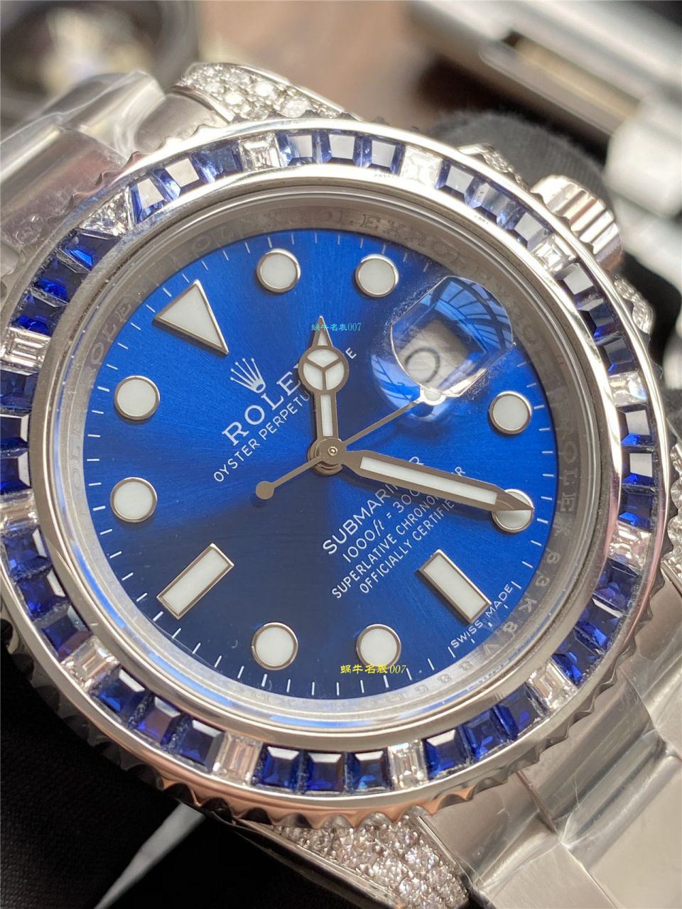 独家【定制真钻蓝水鬼罗志祥同款】劳力士潜航者型116619LB-97209手表