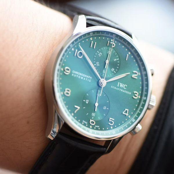 YL厂超A高仿万国葡萄牙背透绿面葡计手表IW371615腕表